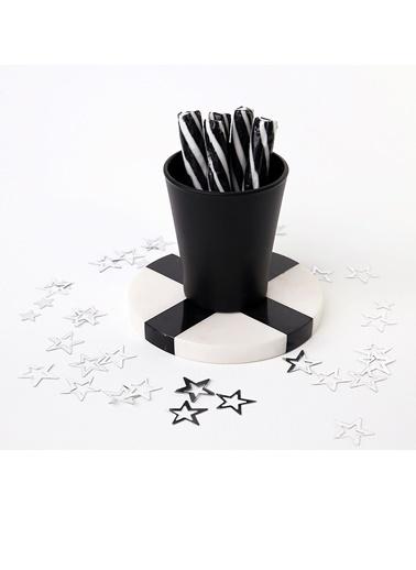3Wdesign El Yapımı Mermer Bardak Altlığı 4lü Siyah